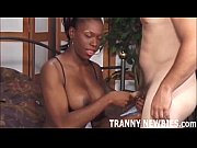 Your first tranny cock should be a big black one