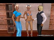 nerdy 3d cartoon blonde babe sucking on a.