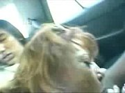 Pervert italian granny has fun with young students in car. Real amateur