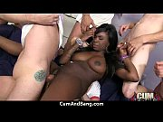 ebony hottie gangbang and facefuck 4
