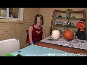 super hot super hero costume amateur using a dildo