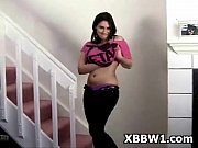 Bbw tattooed voluptuous pretty metalhead girl striptease 1