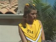 Hot sunny cheerleader fucking