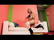 Super hot tranny Maia Monroe gets banged real hard on a sofa