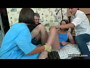 Doctor assists with hymen examination and defloration of virgin teenie