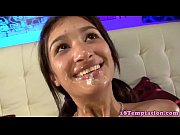 Latina teens facial from her stepbrother