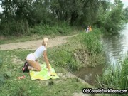 Picture Old pervs sex picnic with Adult Girl