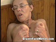 old granny fucked hard in her.