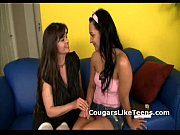 Busty older lesbian cougar undresses and  ...