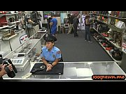 law enforcer gets banged by pawn keeper at.