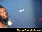 Black babe sucking cock - Gloryhole Initiations 18