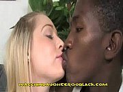 Teen Blonde Daughter Sucks Black Cock