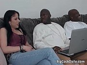 Picture Dirty brunette whore blows big black