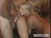2 horny chicks in an anal foursome with.