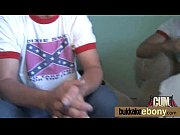 A sex video with a chocolate willy eater with black skin that really loves cumshots