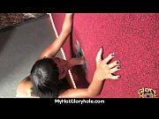 Ebony teen shows off her blowjob skills at gloryhole 9