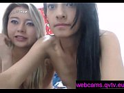 two teens fool around on webcam site -.