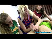 Handjob amateur cheerleader jerks dick