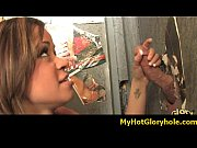 Initiating black girl in the art of interracial gloryhole blowjob 16