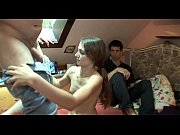 sweet-looking teen gal takes hard rod