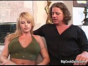 Sexy blonde big boobed slut sucks