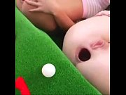 Golf ball in ass