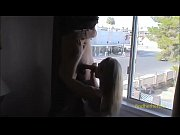amateur cute blonde giving a blowjob by the.