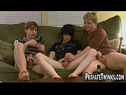 three young twinks fucking after school