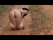 Naked Molly on the roadside