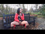Couragious Chloe Lovettes public flashing and upskirt masturbation of brunette