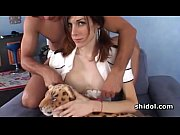 Tgirl Kimber James enjoys anilungus and giving BJ
