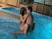 couple in pool...