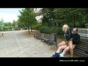 nymph rides boner on park bench