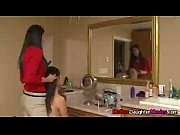stepdaughter and her stepmom give younger boy blowjob.