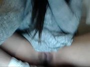 White teen fingering herself