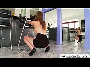 (shae snow) alone horny girl put crazy stuffs.