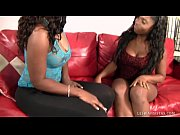 busty ebony lesbos get their freak.