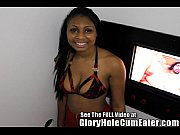 Hot ebony teen Diamond at the gloryhole