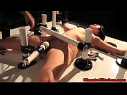 Ball gagged bdsm lezdom sub tits clamped