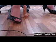 Cam Girl Foot Fetish With Heels And Dildo - www.twowaycams.com