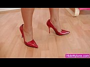 Leggy miss Sharon untidy nylon