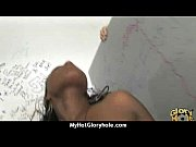 cute ebony gives a mean blowjob.