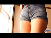 round ass teen in tight jean shorts! perfect.