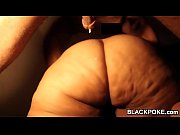 black cock deep in black bbw.