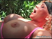 Glorious blonde MILF with big tits