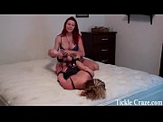 Bound blindfolded and tickle tormented