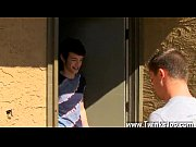 Gay blowjob in car Ryan gargles down the older stud&#039_s schlong before