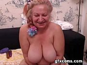 mature granny fingering pussy play