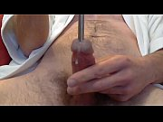 Deep urethral sounding with orgasm