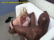 Sexy Blonde Riding a Huge Black Tool